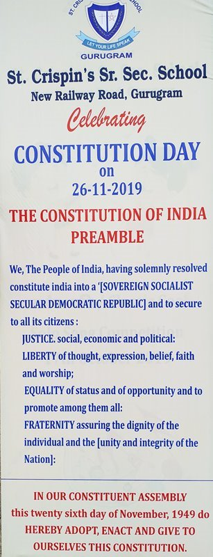 Constitution Day Celebrated on 26.11.2019